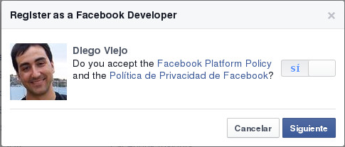 Registro FB-dev. Paso 2